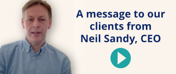 A message from Neil Sandy, CEO