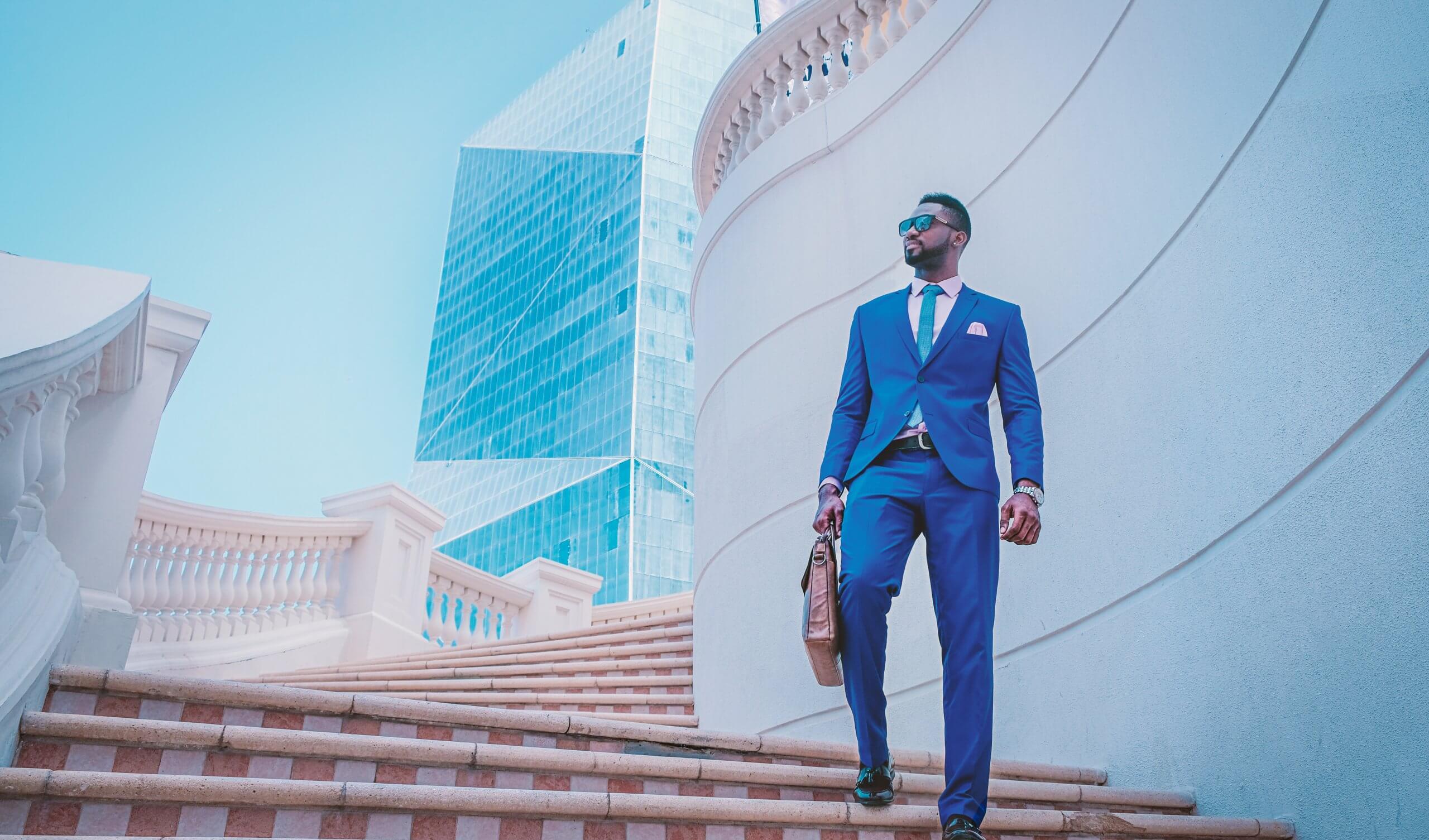 Entrepreneur in blue suit