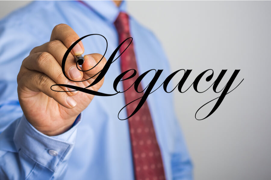 Solicitor writing legacy
